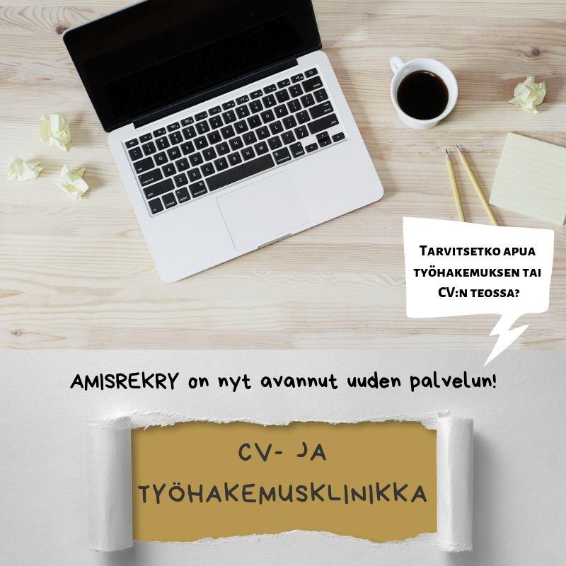 CV- ja työhakemusklinkka