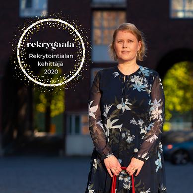 Amisrekryn toimitusjohtaja Sanna Järvinen Vuoden rekrytointialan kehittäjä