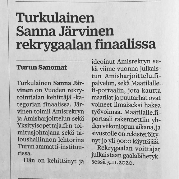 Turun Sanomat Sanna Järvinen